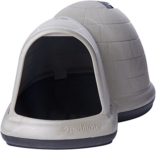 "Petmate Indigo Igloo Dog House, X-Large, 51""x39""x30"", Tan"