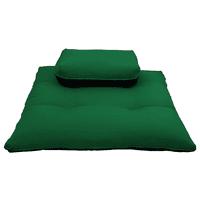 Meditation Zafu And Zabuton Set Cushions Exercise Yoga MatsRectangle Hunter Green