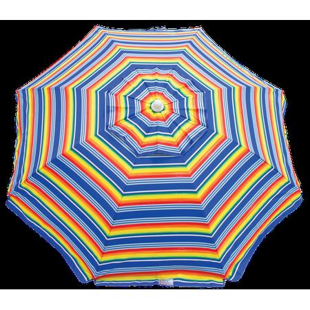 RIO Beach 6 ft. Beach Umbrella with Integrated Sand