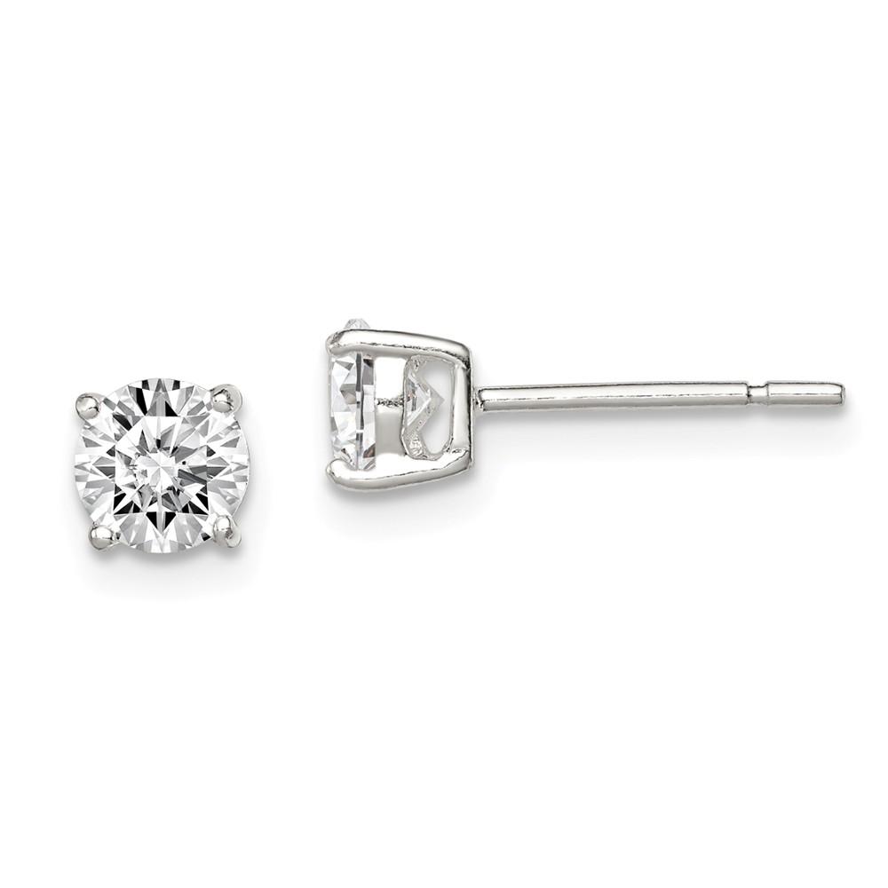 Diamond2Deal 925 Sterling Silver Sun Mini Earrings