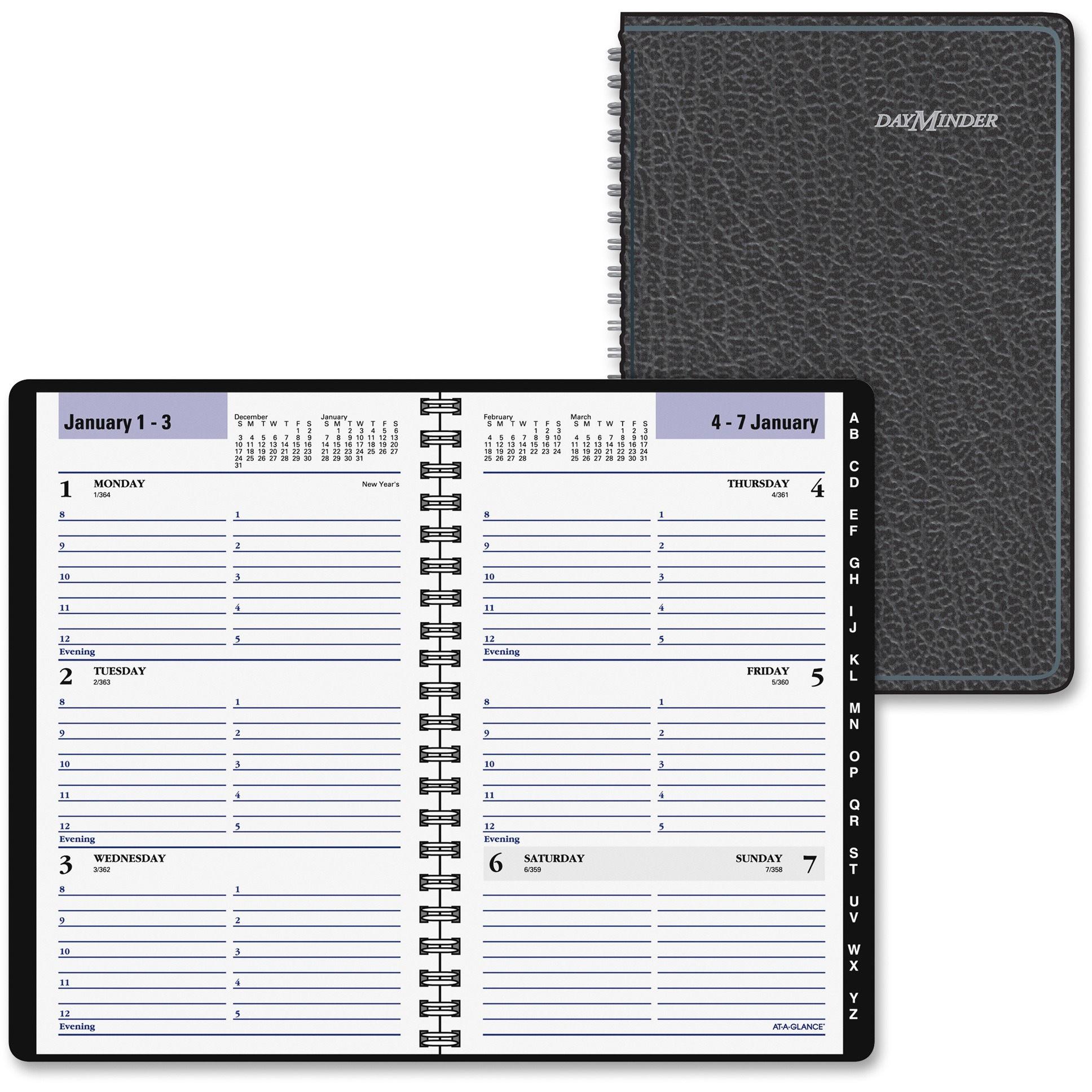 At-A-Glance DayMinder Weekly Appointment Book with Tab Tel/Add