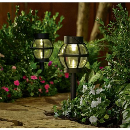 better homes and gardens beaumont 2 piece solar powered landscape lighting set