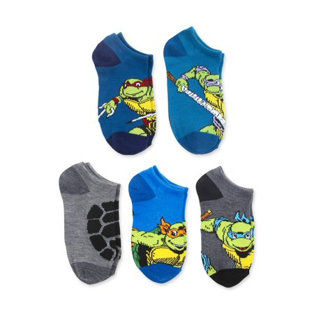 Teenage Mutant Ninja Turtles Boys Socks, No Show TMNT (Little Boys & Big Boys)