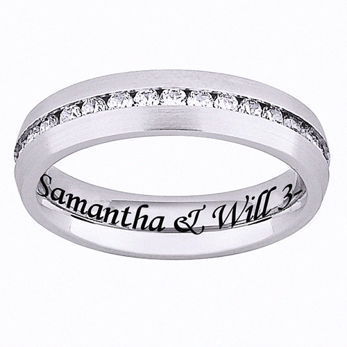 Personalized Stainless-Steel Cubic Zirconia Band