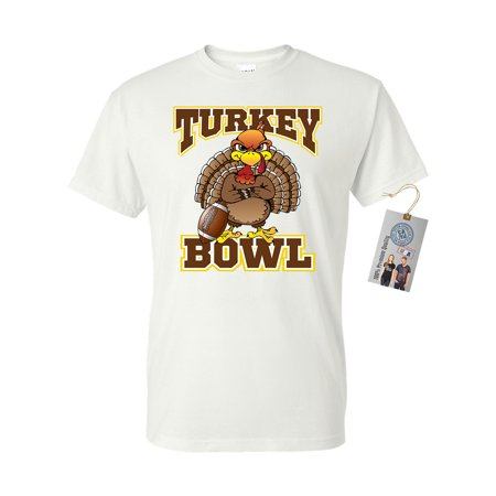Thanksgiving Turkey Bowl Football Mens Womens Short Sleeve T-Shirt