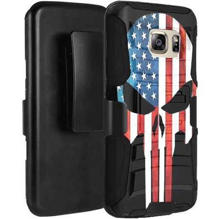 Galaxy S7 ACTIVE (NOT For Regular S7/S7 Edge) Case Holster Combo - Armatus Gear Rugged Tactical Hybrid Armor Case with Holster Belt Clip for Samsung Galaxy S7