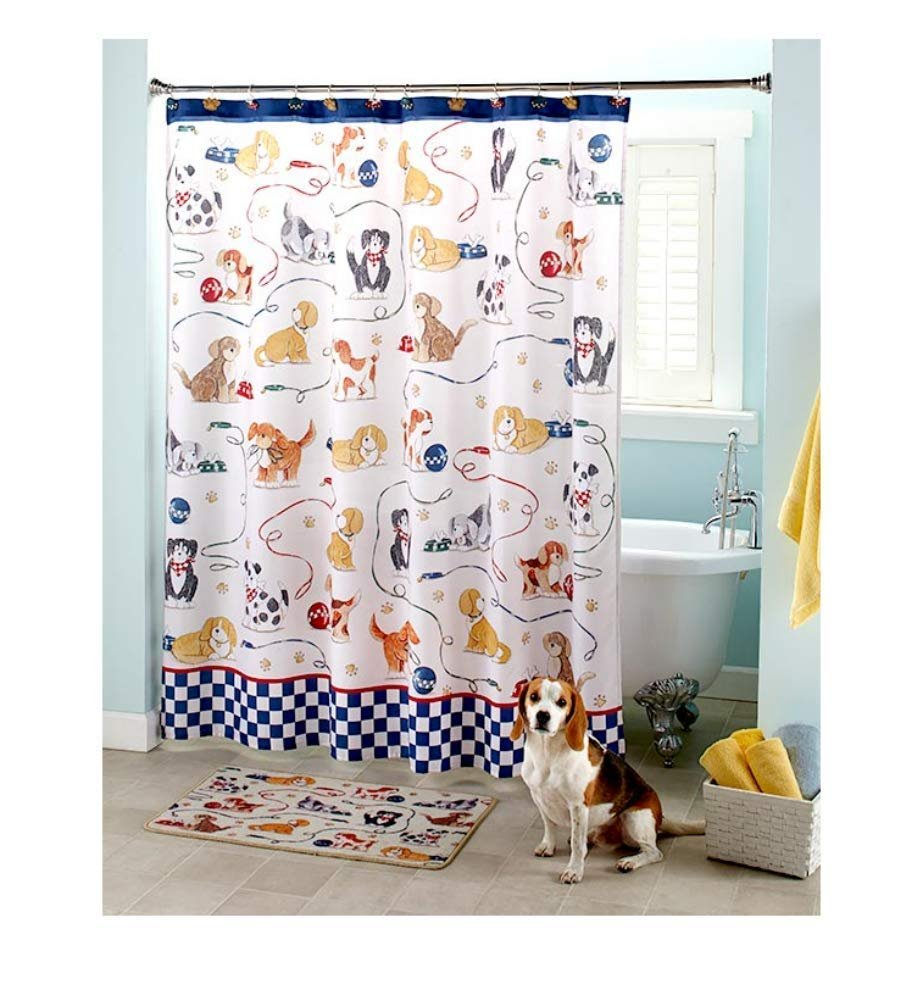 Playful Dogs Bathroom Set 14 Pieces Gift For Dog Lovers Bath Decor Adults Kids Walmart Com Walmart Com