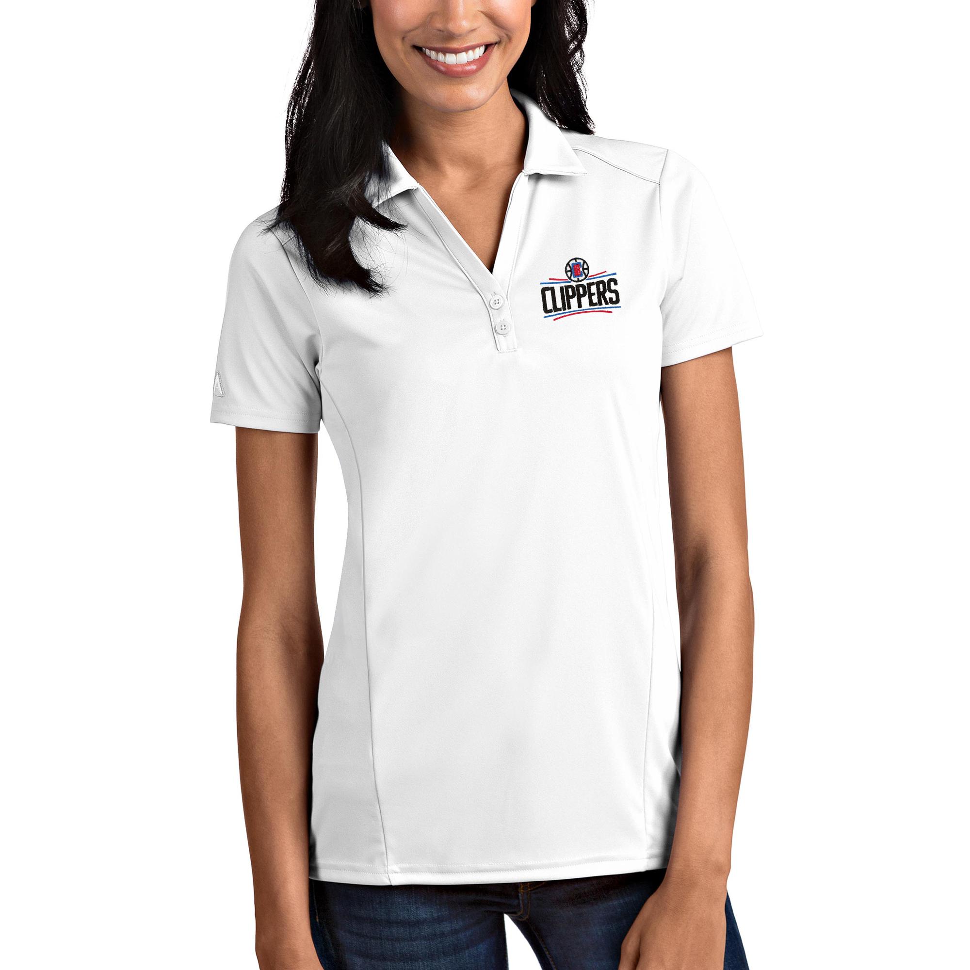 LA Clippers Antigua Women's Tribute Polo - White