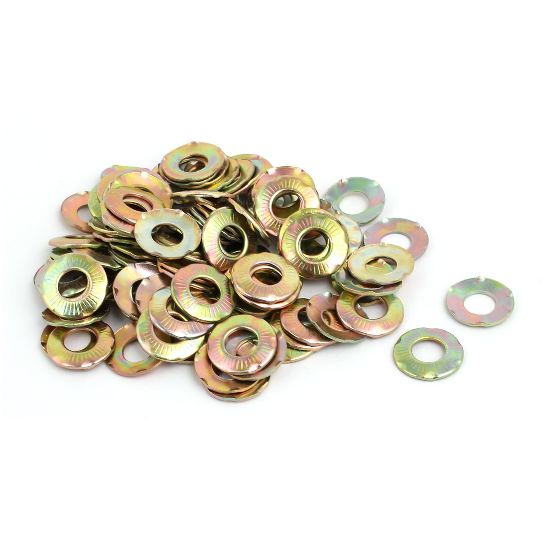 8mm Inner Dia Carbon Steel Claw Locking Washer Bronze Tone 150pcs - image 2 of 2