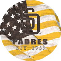 "San Diego Padres 12"" Team Color Flag Sign"