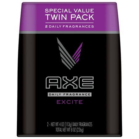 Axe Excite Body Spray Fragrance for Men, 4 oz each, twin pack