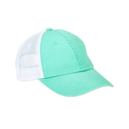 VB101 VIBE Cotton mid weight twill crown and visor with nylon mesh back  panels and six panel and unstructured and low profile cap with heavy enzyme  wash and ... aaa5c4709164