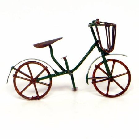 G & F 10022GR MiniGarden Fairy Garden Miniature Green Mini Bicycle Outdoor - Dark Fairy