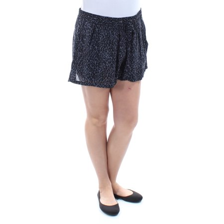 French Connection Print - FRENCH CONNECTION Womens Black Pocketed Animal Print Short  Size: 12