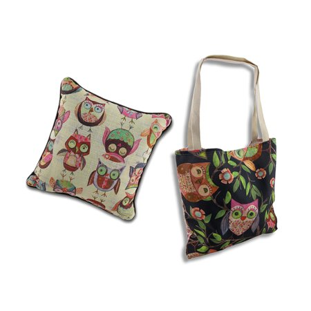 Wendy Bentley Give a Hoot Owl Accent Pillow and Tote Bag
