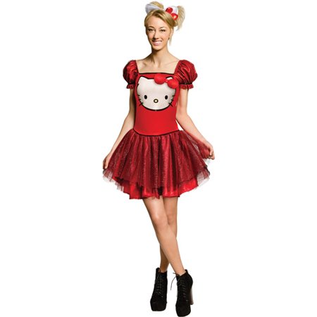 Red Sequin Hello Kitty Teen Halloween - Hello Kitty Makeup For Halloween