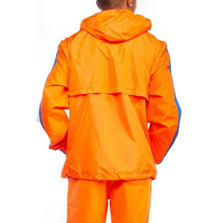 38af40be0 Genx - Mens Dope Lightweight Windbreaker Colorblock Pullover Hoodie Jacket  18121-5142-L-Orange - Walmart.com