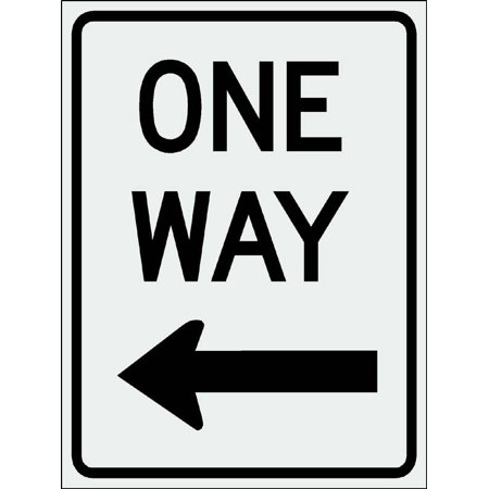 ONE WAY Left Sign 12