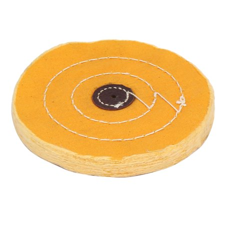 6-inch 50 Plies 4mm Dia Hole Round Shape Polishing Buffing Cloth Wheel Yellow (Buffing Wheel 8 Inch)