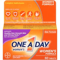 One A Day Women's Multivitamin Supplements with Vitamins A, C, E, B1, B2, B6, B12, Biotin, Calcium and Vitamin D, 60 ct.