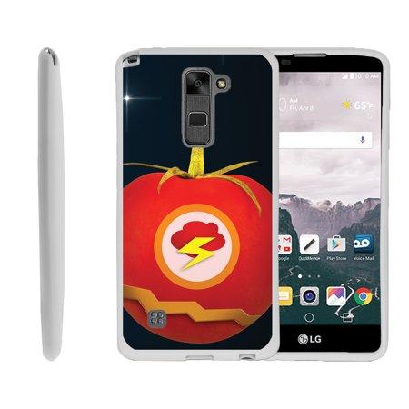 LG G Stylo 2, LG G Stylus 2 LS775, Flexible Case [FLEX FORCE] Slim Durable TPU Sleek Bumper with Unique Designs - Flash Tomato