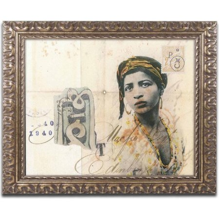 Trademark Fine Art Ronda Maur Canvas Art By Nick Bantock  Gold Ornate Frame