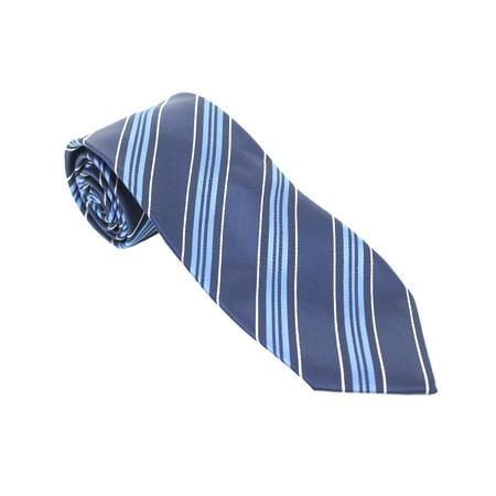 John Ashford Navy Trad Stripe Necktie (Ashford Stripes)