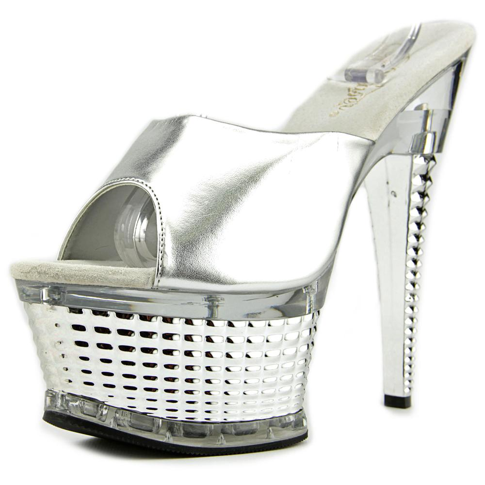 Pleaser Illusion-651   Open Toe Synthetic  Platform Sandal