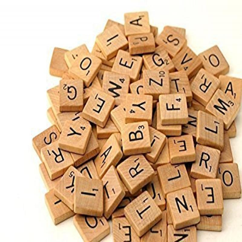 1000 Scrabble Tiles New Scrabble Letters Wood Pieces 10 Complete Sets Great for Crafts, Pendants, Spelling by... by