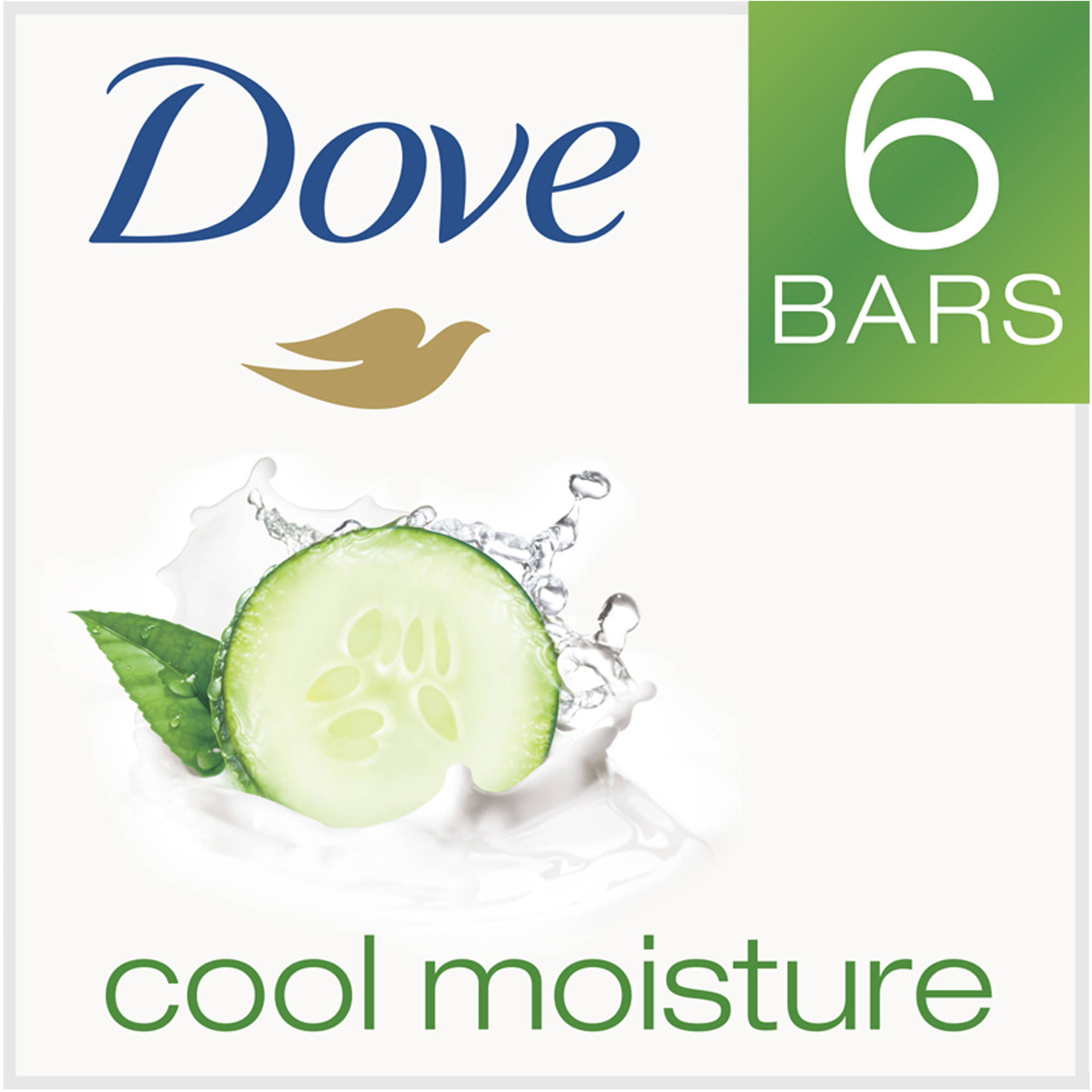 Dove go fresh Cucumber and Green Tea Beauty Bar, 4 oz, 6 Bar
