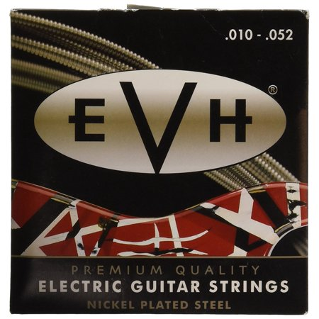 Nickel Plated Electric Guitar Strings, Medium, EVH Premium Strings 10-52 By Fender From