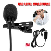 Lavalier Lapel Microphone Omnidirectional Condenser Mic for Computer PC, Laptop, Mac, MacBook, PS4, Perfect for Video Yutube Recording, Interviews ,Skype, Vlogging, Podcast