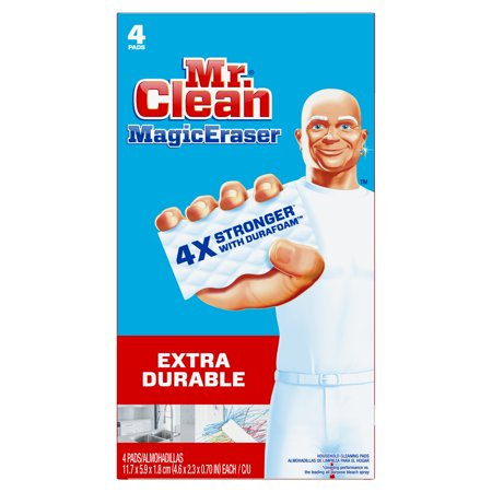 Mr. Clean Magic Eraser Extra Durable, Cleaning Pads with Durafoam, 4