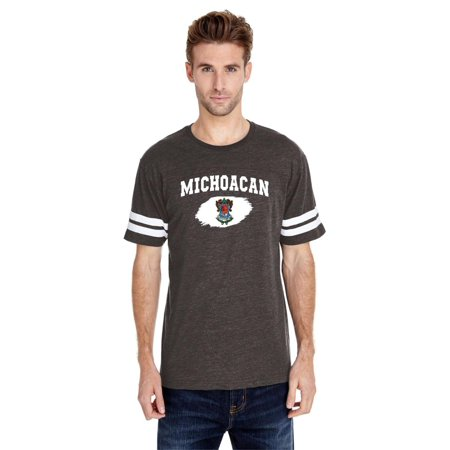 Mexico State of Michoacan Adult Unisex Football Fine Jersey Tee