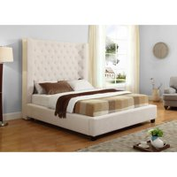 Best Master Furniture Jamie Upholstered Tower Low Profile Bed