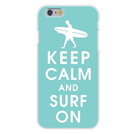 Apple iPhone 6+ (Plus) Custom Case White Plastic Snap On - Keep Calm and Surf On Guy Dude Surfer