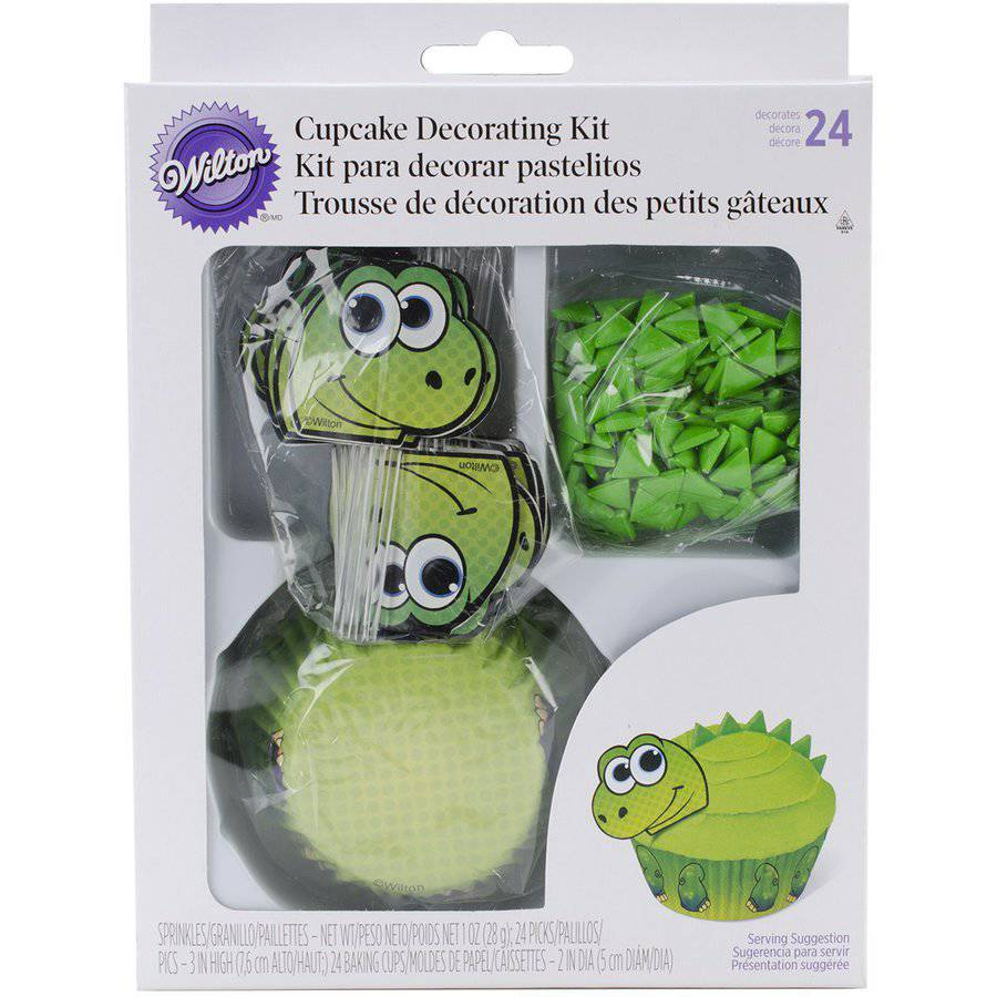 Wilton Cupcake Decorating Kit, Dinosaur 24 ct. 415-0760