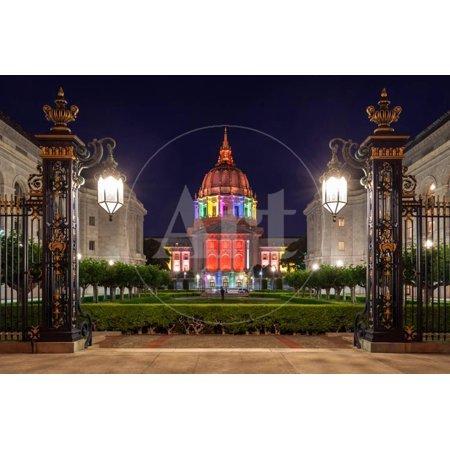 San Francisco City Hall in Rainbow Colors Print Wall Art By nstanev](City Hall San Francisco Halloween)