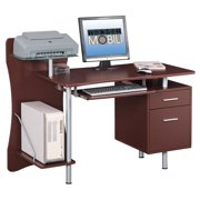 Techni Mobili Stylish Computer Desk with Storage, Chocolate (RTA-325-CH36)