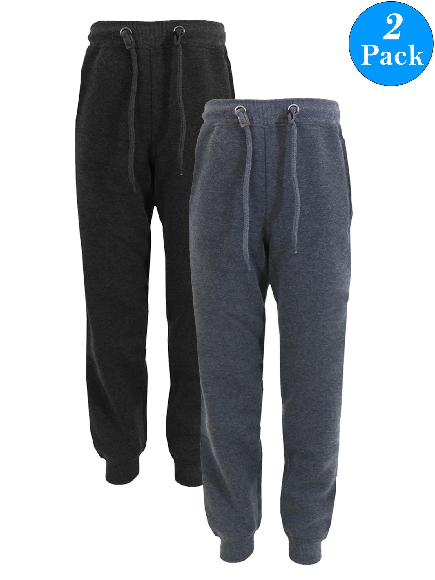 Boy's Slim-Fit Fleece Jogger Sweatpants (2-Pack)