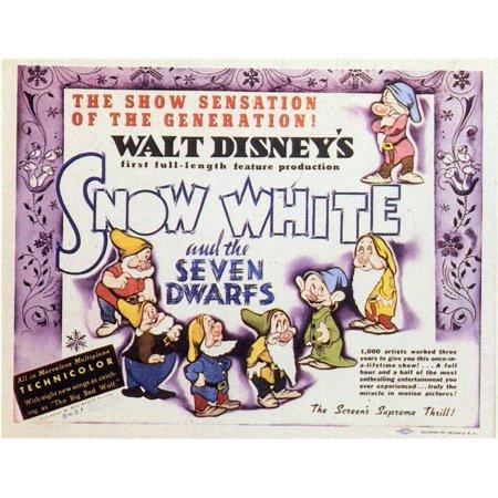 17394ad6 Snow White and the Seven Dwarfs POSTER Movie Mini Promo - Walmart.com