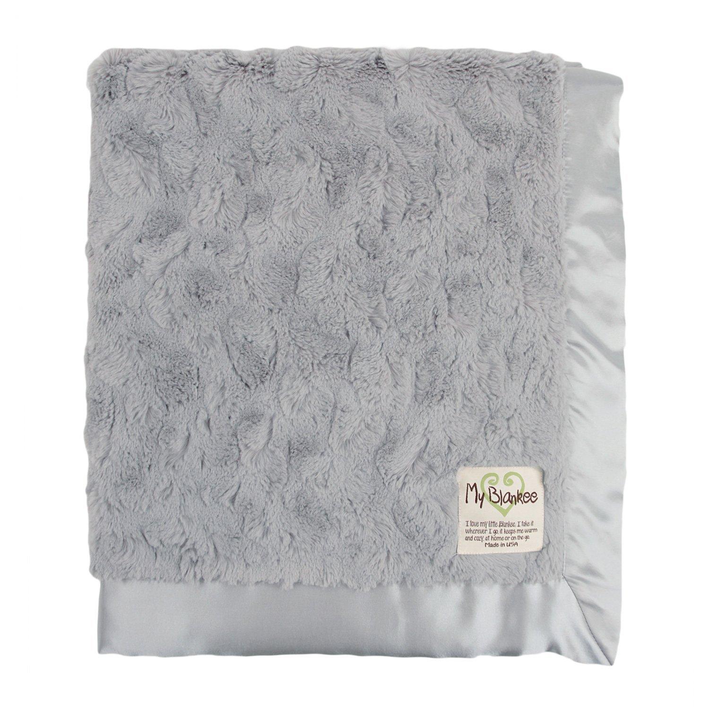 My Blankee Luxe Bella Blanket, Silver, 30' x 35'