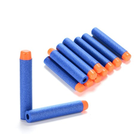 Refill Pack 200pcs Toy Gun Bullet Darts Round Head for Children Blasters Nerf N-strike (Blue)
