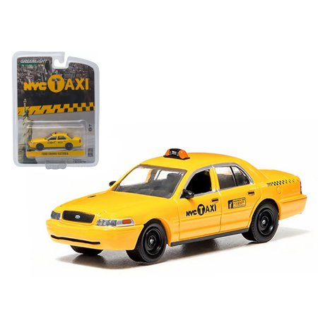 Taxi Diecast Car - Ford Crown Victoria New York City Taxi (NYC) Greenlight Exclusive 1/64 Diecast Model Car by Greenlight