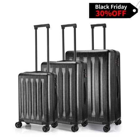 Keenstone Lightweight 3pcs Luggage Sets including 20''/24''/28''with TSA lock and integrated weight (Best Lightweight Luggage Uk)