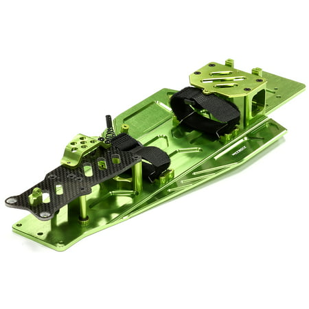 Integy RC Toy Model Hop-ups T8655GREEN Performance Conversion Chassis Kit for 1/10 Traxxas Rustler & Bandit