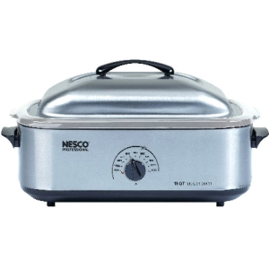 Nesco Electric Oven - Single - 0.60 ft³ Main Oven - 1425 W - Stainless Steel