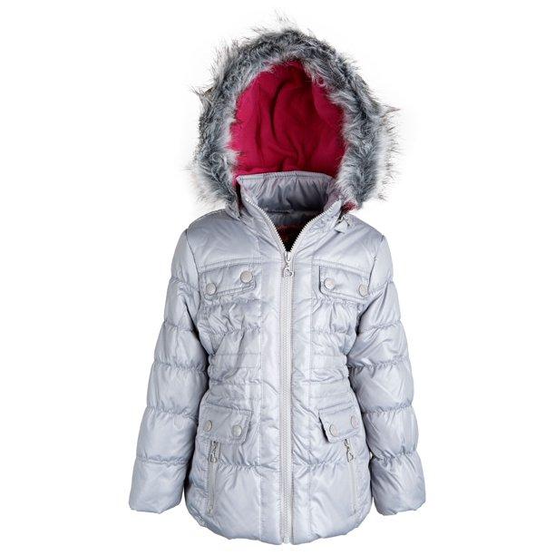 Urban Republic - Urban Republic Little Girls Down Alternative Fleece Lined  Hooded Puffer Jacket - Walmart.com - Walmart.com