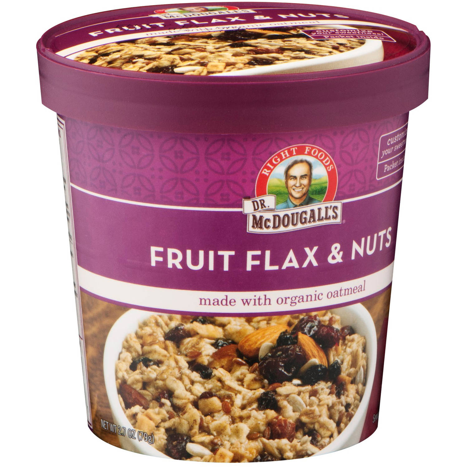 Dr. McDougall's Right Foods Fruits Flax & Nuts, 2.7 oz, (Pack of 6)