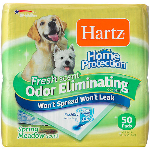 Hartz Home Protection Fresh Scent Odor Eliminating Dog Pads, 50ct